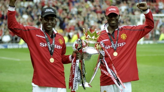 Dwight Yorke Andy Cole Manchester United