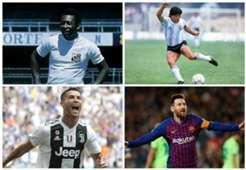 GFX Messi, CR7, Pelé, Maradona