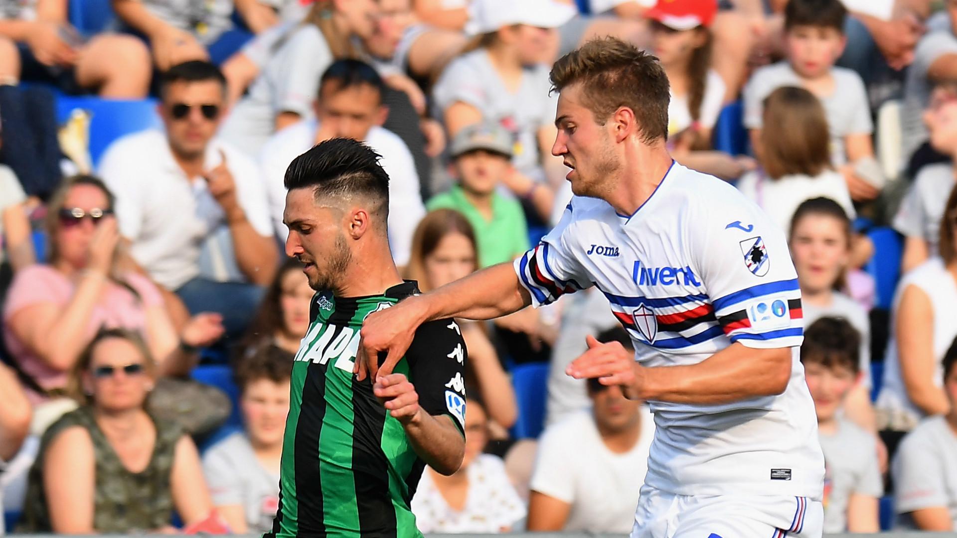 Matteo Politano, Joachim Andersen, Sassuolo, Sampdoria, Serie A, 06052018