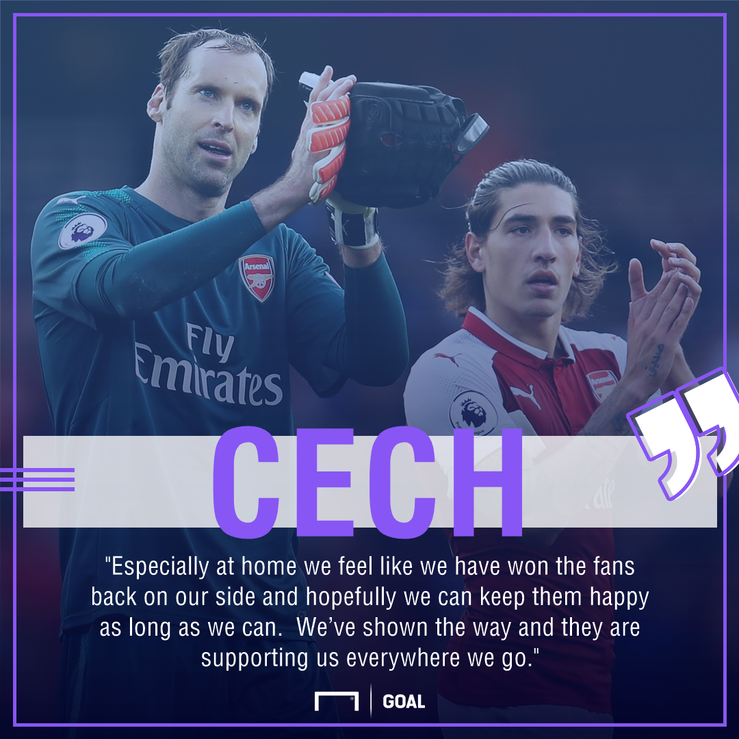 Petr Cech Arsenal won fans back