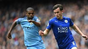 Fernandinho Ben Chilwell Manchester City Leicester City Premier League
