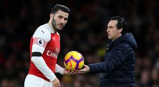 Sead Kolasinac Unai Emery Arsenal 2018/19