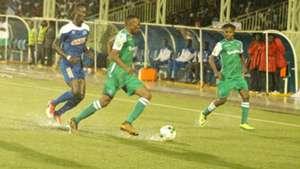 Bonfilscaleb Bimenyimana, Jacques Tuyisenge, Francis Kahata of Gor Mahia and Rayon Sports.