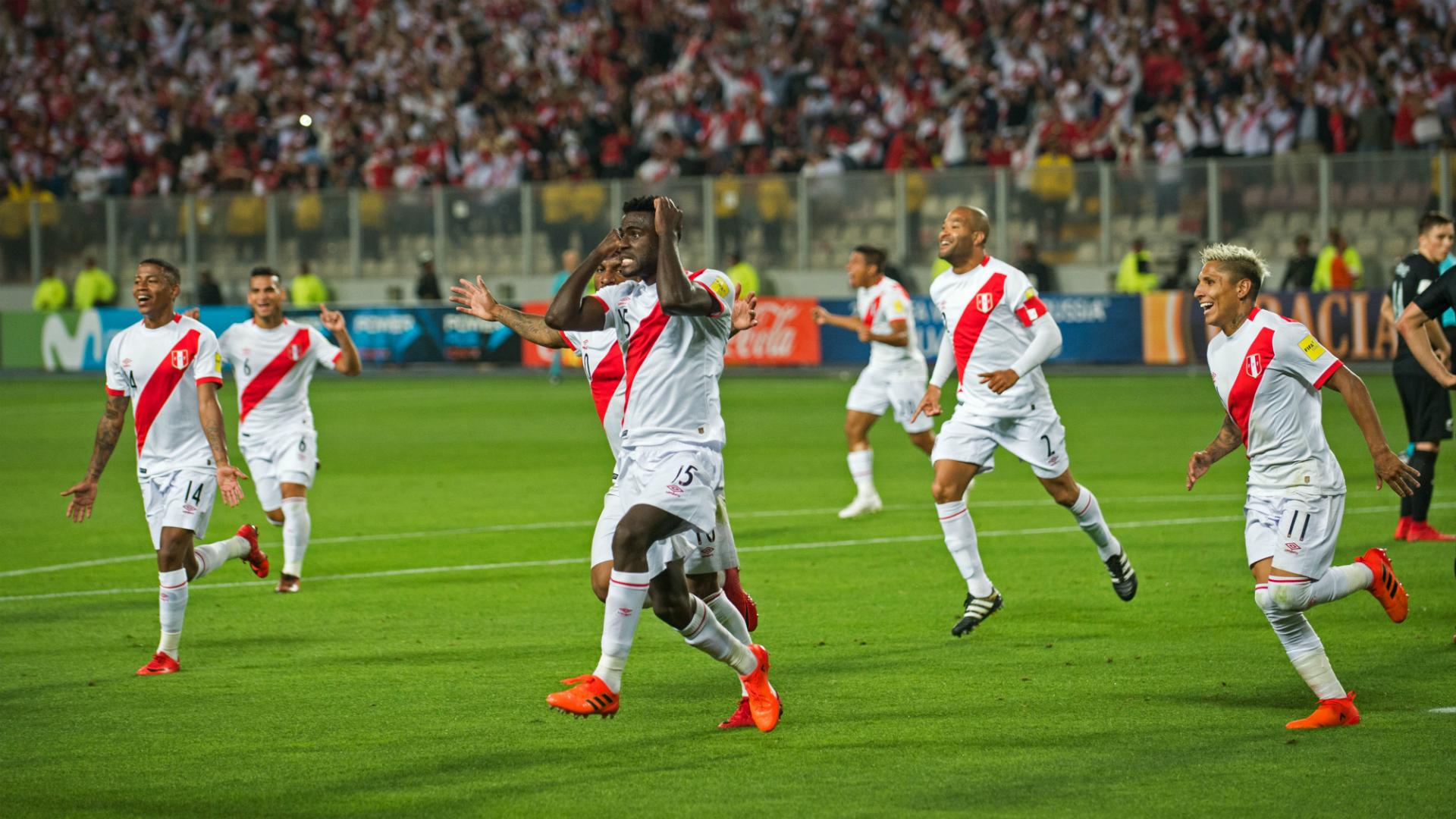 Festejo Perú al Mundial