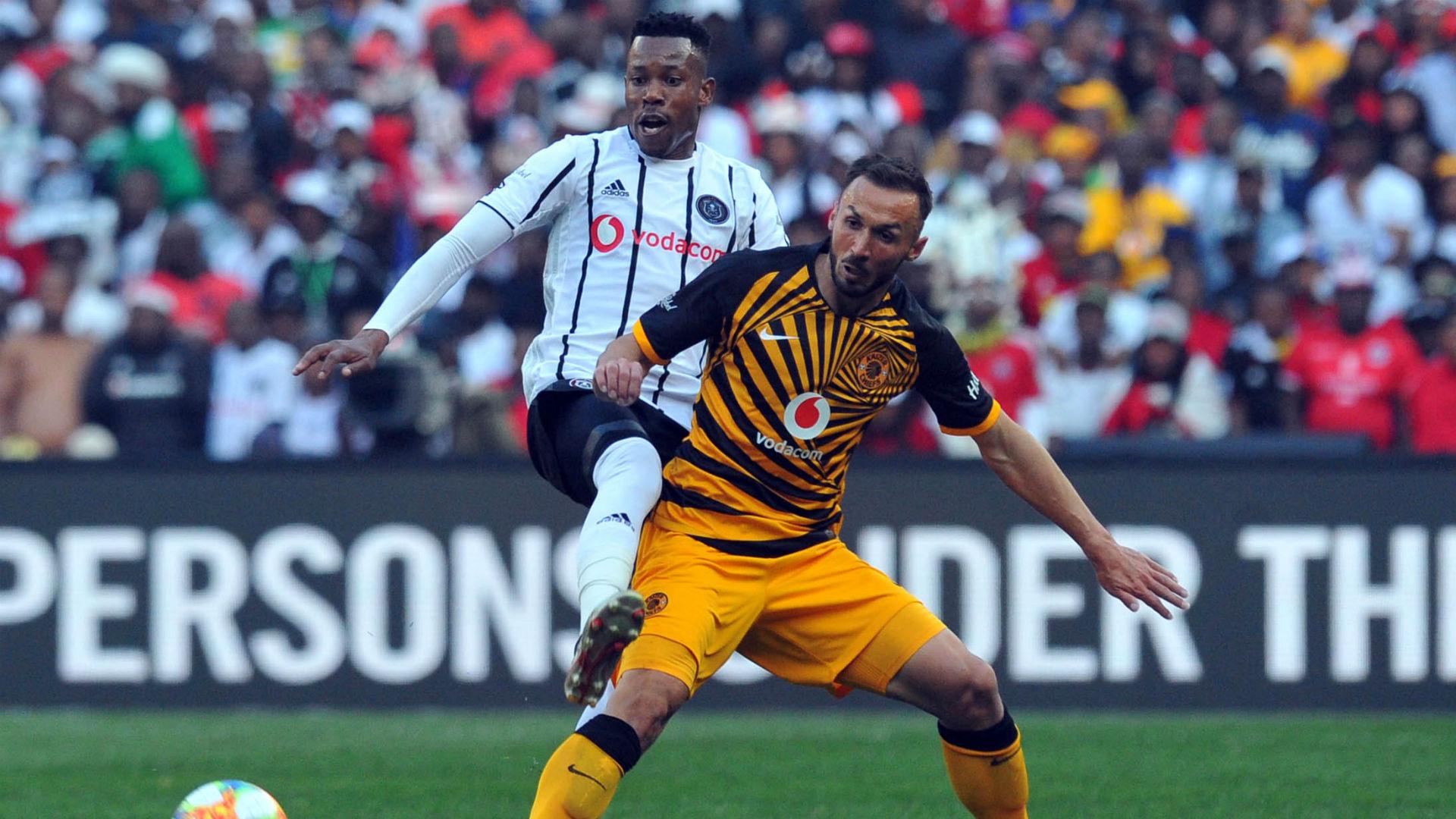Happy Jele Orlando Pirates and Samir Nurkovic Kaizer Chiefs - July 2019