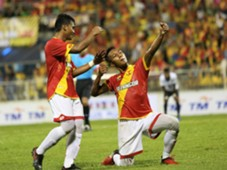 Adam Nor Azlin celebrates his goal against Pulau Pinang 21/1/2017