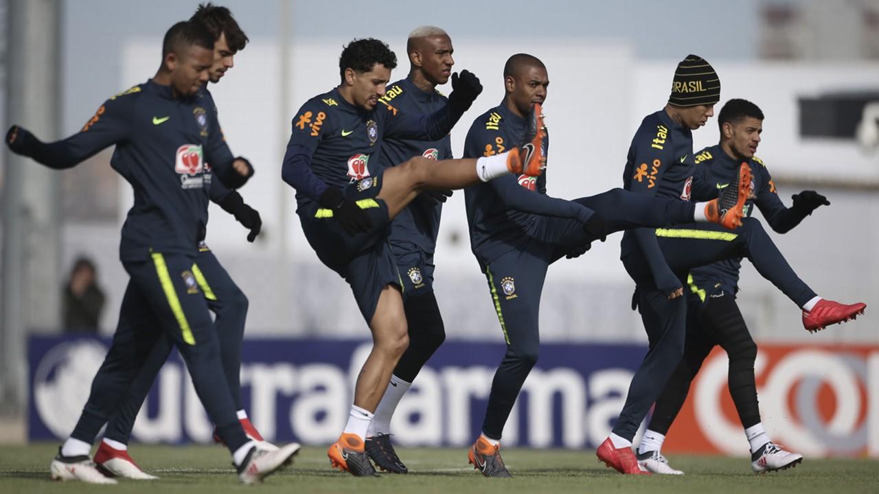 Seleção Brasileira treino Moscou 20 03 18