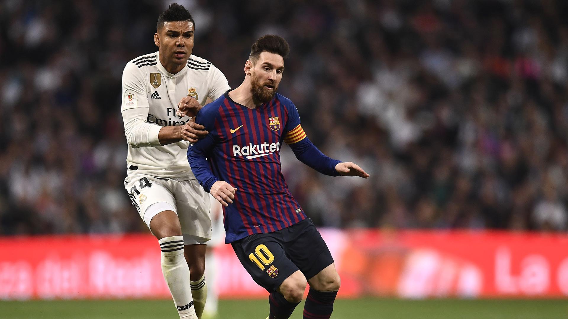 Casemiro Real Madrid Messi Barcelona
