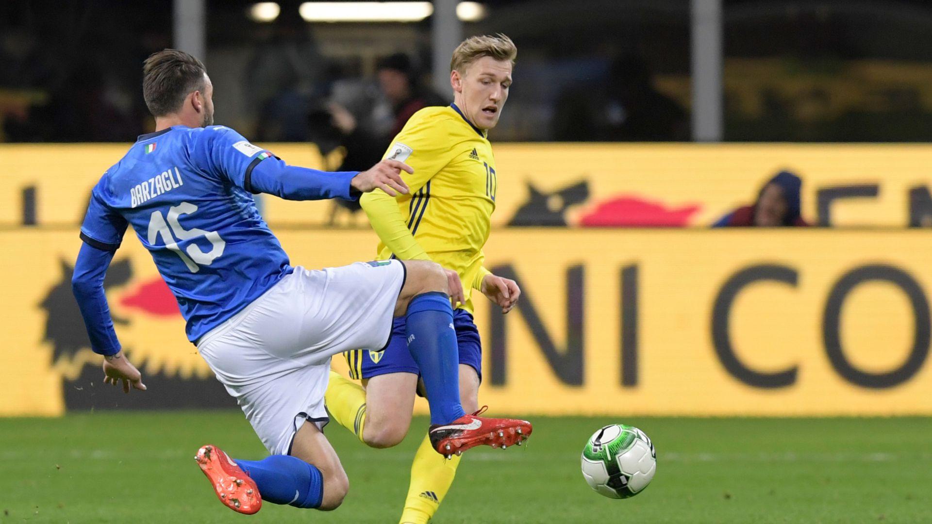 Andrea Barzagli Emil Forsberg Italy Sweden