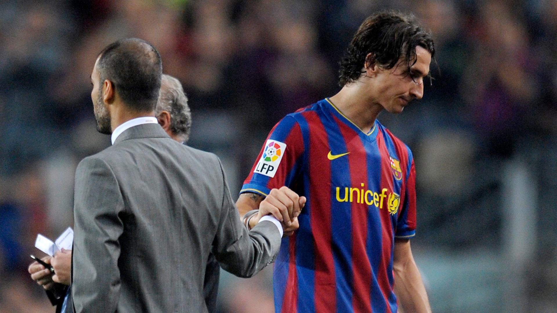 Zlatan Ibrahimovic Pep Guardiola Barcelona