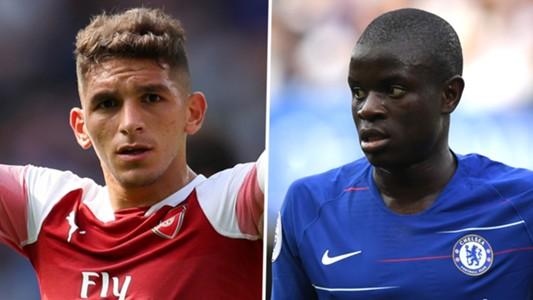 Lucas Torreira N'Golo Kante Arsenal Chelsea 2018-19