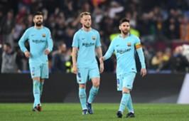 Ivan Rakitic Barcelona Messi Pique