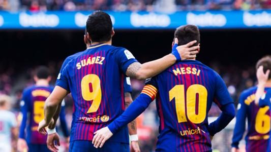 Luis Suarez Lionel Messi Barcelona