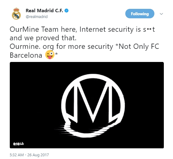 Real Madrid Twitter Hack 1