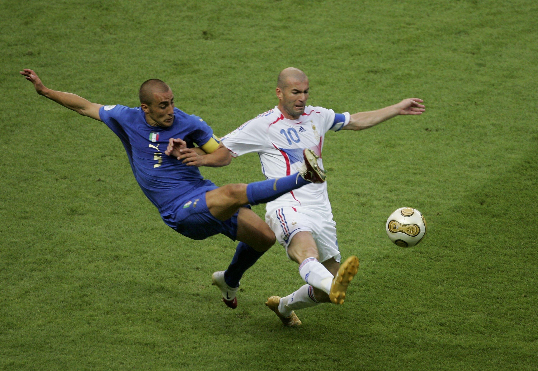 090706 France Italy Fabio Cannavaro Zinedine Zidane Just for body