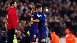 Philippe Coutinho Andres Iniesta Barcelona Espanyol Copa del Rey