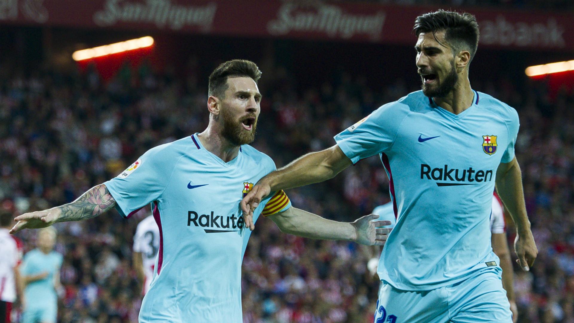 Lionel Messi Andre Gomes Athletic Bilbao Barcelona LaLiga