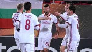 Patrick Cutrone Ludogorets Milan UEFA Europa League 02152018