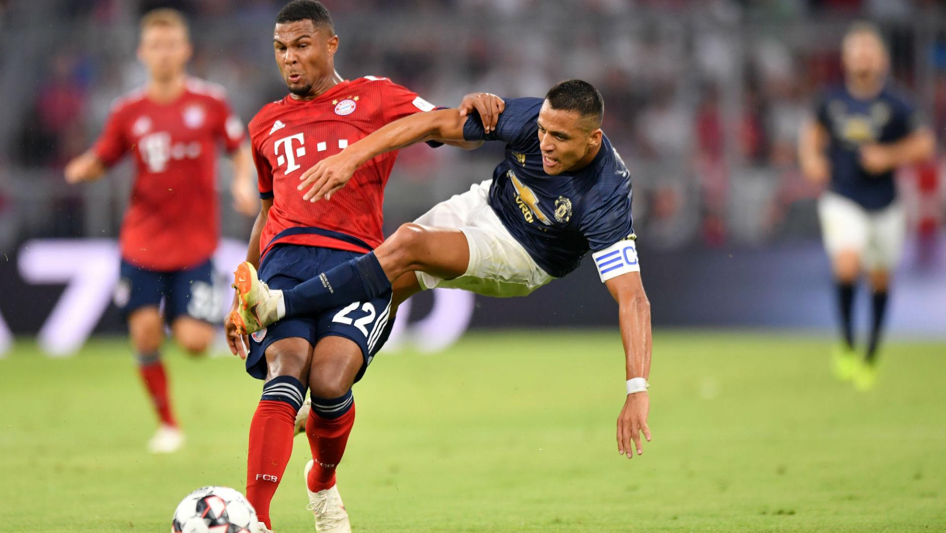 050818 Alexis Sánchez Serge Gnabry Manchester United Bayern Münich