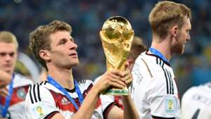 Thomas Muller Germany FIFA World Cup Trophy