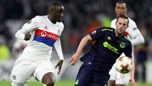 Mouctar Diakhaby Gylfi Sigurdsson Lyon Everton UEFA Europa League 02112017