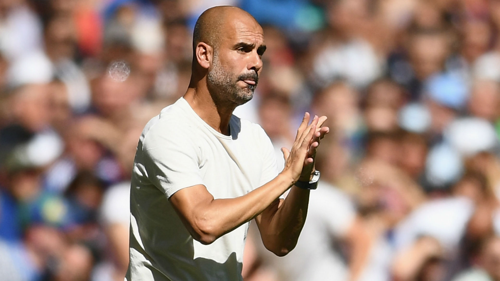 Pep Guardiola Manchester City Community Shield 2018