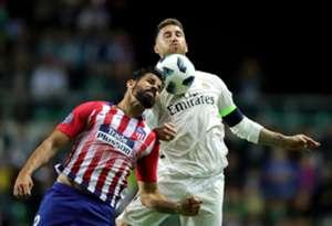 Diego Costa Sergio Ramos Real Madrid Atletico Madrid 15/08/2018