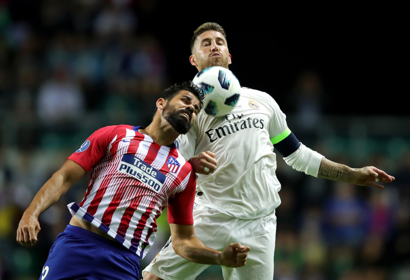 Diego Costa Sergio Ramos Real Madrid Atletico Madrid 15/08/2018