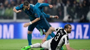 Benzema Chiellini Juventus Real Madrid Champions League