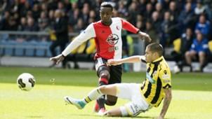 Eljero Elia, Kevin Diks, Vitesse - Feyenoord, Eredivisie, 04232017