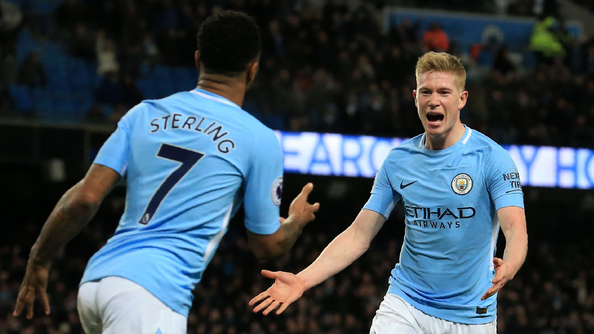 De Bruyne Sterling Manchester City West Brom Premier League 01312018