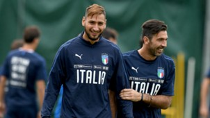Gianluigi Donnarumma Gianluigi Buffon Italy WC Qualifying Europe 10052017
