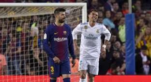 Gerard Pique Cristiano Ronaldo Barcelona Real Madrid