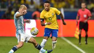 Javier Mascherano Argentina Neymar Brazil