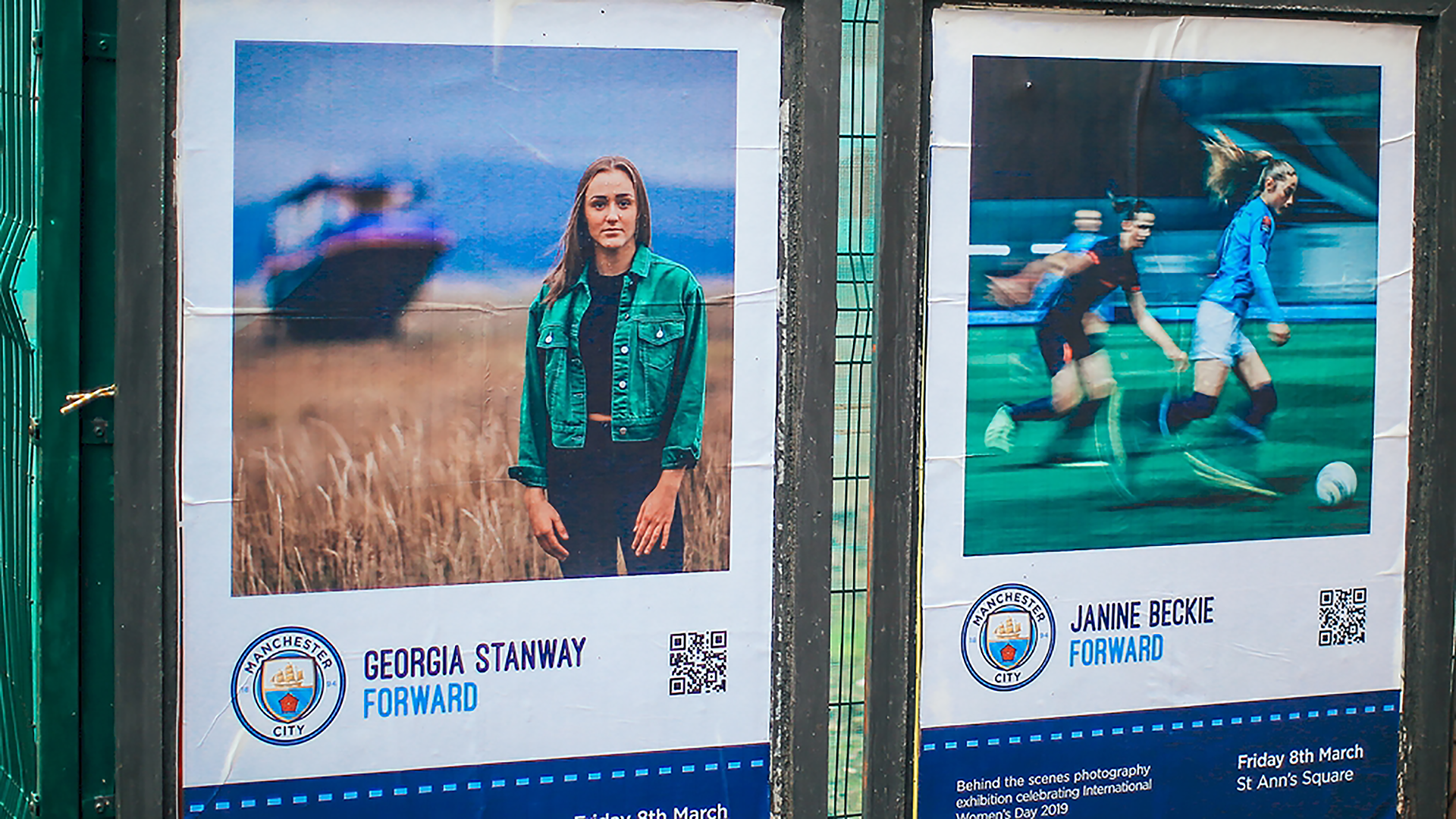 Manchester City women's photo exhibition