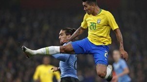 Martin Caceres Roberto Firmino Brazil Uruguay Friendlies 16112018