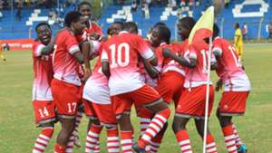 Harambee Starlets celebrates against Ethiopia