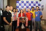 Mrs. Nita Ambani with Indian Super League trophy