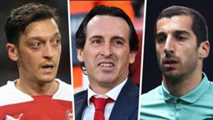 Mesut Ozil Unai Emery Henrikh Mkhitaryan Arsenal