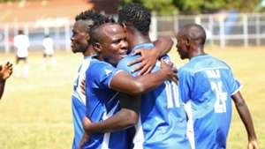 Wilson Anekeya and Allan Wanga celebrate for Homeboyz.