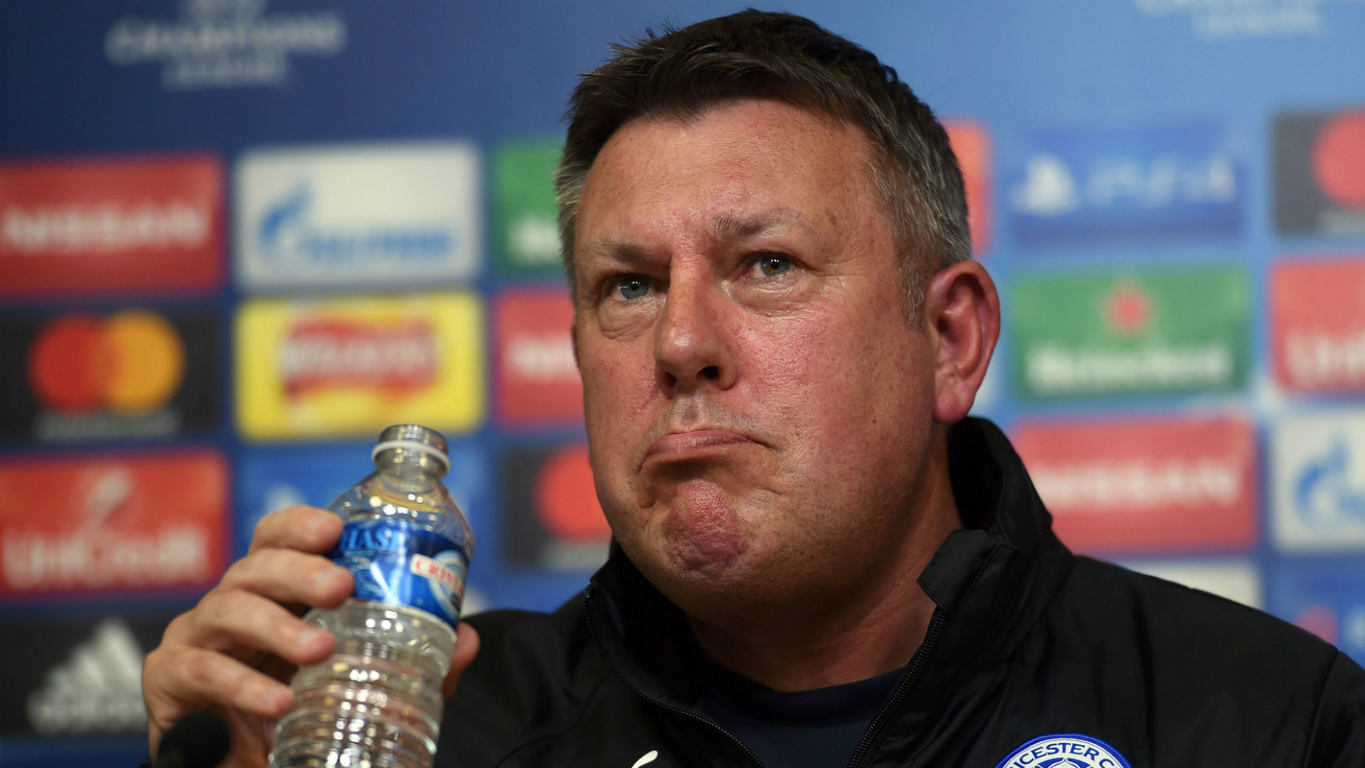 Craig Shakespeare Leicester City Champions League