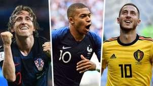 Luka Modric Kylian Mbappe Eden Hazard
