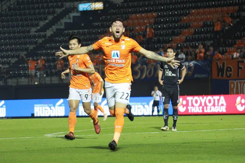 Image result for ราชบุรีแซงเถือนาวี 2-1