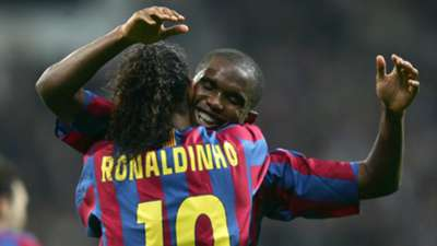 Eto'o Ronaldinho Barcelona Real Madrid