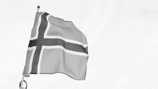 Norwegen Norway Flagge Flag Schwarz-Weiß