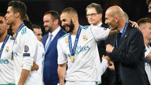Cristiano Ronaldo Benzema Zidane Champions League Real Madrid 26 05 2018