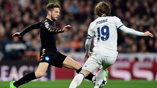 Dries Mertens Luka Modric Real Madrid Napoli Uefa Champions League