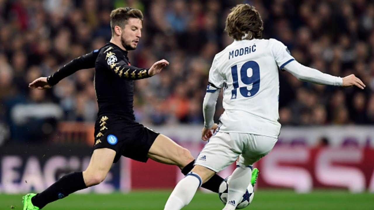 Dries Mertens Luka Modric Real Madrid Napoli Uefa Champions League