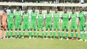 Gor Mahia line up before taking on Lobi Stars of Nigeria.