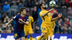 Diego Costa Sergi Roberto FC Barcelona Atletico Madrid 04032018